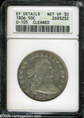 Early Half Dollars: , 1806 50C Knobbed 6, Small Stars--Cleaned--ANACS. XF Details, NetVF30....
