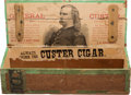 Military & Patriotic:Indian Wars, George A. Custer: Rare Early Cigar Box....
