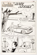 "Original Comic Art:Complete Story, Harry Lucey and Terry Szenics Archie #142 Complete 5-PageStory ""Hate Affair"" Original Art (Archie Comics, 1963).... (Total:5 Original Art)"