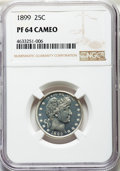 Proof Barber Quarters, 1899 25C PR64 Cameo NGC....