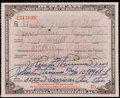 Miscellaneous Collectibles:General, 1930 Prohibition Pharmacy Prescription for Whiskey. ...