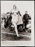 Olympic Collectibles:Autographs, 1954 Roger Bannister Four Minute Mile Vintage Wire Photograph....