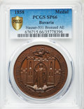 "German States:Bavaria, German States: Bavaria bronzed copper Specimen ""Trade and IndustryFair"" Medal 1858 SP66 PCGS,..."