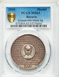 "Germany:Bavaria, Germany: Bavaria silver Matte ""750th Anniversary of Investiture""Medal 1930 MS63 PCGS,..."