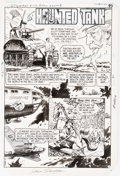 Original Comic Art:Panel Pages, Sam Glanzman G.I. Combat #276 Story Pages 1 and 3 OriginalArt (DC, 1985).... (Total: 2 Original Art)