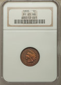 Proof Indian Cents: , 1895 1C PR65 Red and Brown NGC. NGC Census: (63/20). PCGS Population: (60/26). PR65. Mintage 2,062. ...