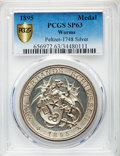 "German States:Worms, German States: Worms silver Specimen ""Shooting"" Medal 1895 SP63PCGS,..."