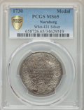 """German States:Nürnberg, German States: Nürnberg silver """"200th Anniversary of AugsburgConfession"""" Medal 1730 MS65 PCGS,..."""