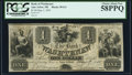 Obsoletes By State:Michigan, Ann Arbor, MI- Bank of Washtenaw $1 May 1, 1835 PCGS Choice About New 58PPQ.. ...