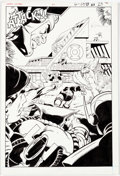 Original Comic Art:Splash Pages, Joe Staton and Mark Farmer Green Lantern #201 Splash Page 17Original Art (DC, 1986)....
