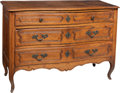 Furniture , A Provincial Louis XV-Style Walnut Commode, 19th century. 35-1/2 x 52 x 20 inches (90.2 x 132.1 x 50.8 cm). ...