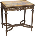 Furniture : French, A Louis XVI-Style Giltwood and Sienna Marble Center Table, 19th century. 31-1/2 x 32-1/4 x 22-1/2 inches (80.0 x 81.9 x 57.2...