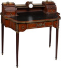 Furniture , A Directoire-Style Bronze-Mounted Mahogany Writing Desk, 19th century. 37-3/8 x 39-3/4 x 20-3/4 inches (94.9 x 101.0 x 52.7 ... (Total: 2 Items)