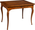 Furniture : Continental, An Italian Walnut Veneer Occasional Table, 19th century. 30 x 38 x 29-1/2 inches (76.2 x 96.5 x 74.9 cm). ...