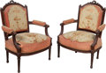 Furniture , A Pair of Louis XVI-Style Aubusson Upholstered Fauteuils, 19th century. 37 x 26-1/2 x 23 inches (94.0 x 67.3 x 58.4 cm) (eac... (Total: 2 Items)