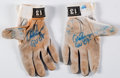 "Baseball Collectibles:Uniforms, 2007 Alex Rodriguez ""GU 07"" Game Worn and Signed Batting Gloves.... (Total: 2 items)"