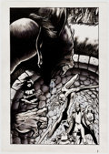 Original Comic Art:Splash Pages, Unusual Heroes Splash Page Original Art (c. 1990s)....