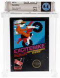 Video Games:Nintendo, Excitebike (NES, Nintendo, 1985) Wata 8.5 A (Seal Rating)....
