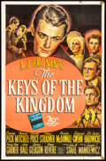 "Movie Posters:Drama, The Keys of the Kingdom (20th Century Fox, 1944) Folded, Fine+. One Sheet (27"" X 41"") Style A. Drama...."