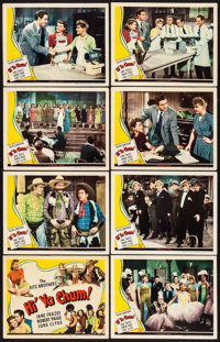 """Hi'Ya Chum (Universal, 1943) Very Fine-. Lobby Card Set of 8 (11"""" X 14""""). Comedy. From the Collection of Frank..."""