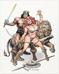 Original Comic Art:Illustrations, Ernie Chan - Conan and Red Sonja Illustration Original Art(2007)....