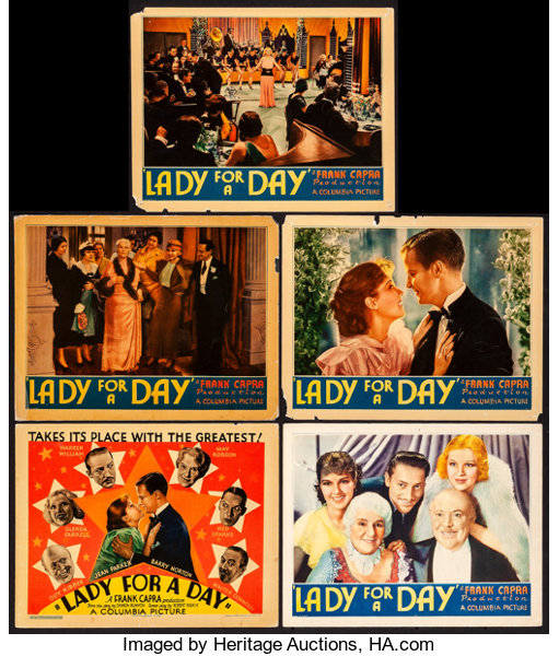 Lady for a day 1933 Frank Capra vintage movie poster
