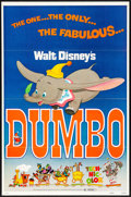 """Movie Posters:Animation, Dumbo (Buena Vista, R-1972) Folded, Very Fine-. One Sheet (27"""" X 41""""). Animation...."""