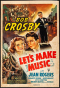 "Movie Posters:Musical, Let's Make Music (RKO, 1941) Very Good+ on Kraft Paper. One Sheet (Approx. 26.5"" X 40"") Style A. Musical. From the Collect..."