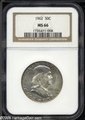 Franklin Half Dollars: , 1962 50C MS66 NGC....
