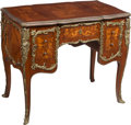 Furniture , A Louis XV-Style Marquetry-Inlaid and Gilt Bronze-Mounted Bombé Bureau de Dame, 20th century. 31-1/4 x 38 x 23 inches (79.4 ...