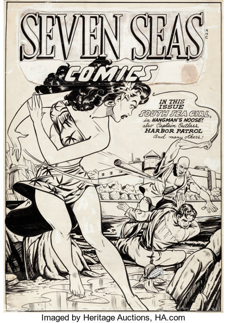 Matt Baker Seven Seas Comics #5 Cover Original Art (Universal Phoenix Features, 1947)....