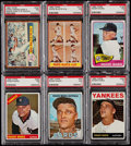 Baseball Cards:Lots, 1962-1967 Topps Roger Maris PSA Graded Collection (6)....