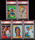 Baseball Cards:Lots, 1959-1969 Topps Ernie Banks PSA Graded Collection (5)....