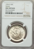1936-D 50C Texas -- Reverse Cleaned -- NGC Details. Unc. NGC Census: (0/1646). PCGS Population: (0/2716). CDN: $115 Whsl...