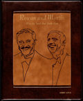 "Movie Posters:Comedy, Rowan and Martin ""Bite the Hand That Feeds Them"" (NBC, 1970) VeryFine. Leather-Bound Rainbow Script (Multiple Pages, 10"" X ..."