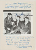 """Football Collectibles:Others, 1982 Johnny Blood McNally, Byron """"Whizzer"""" White & Art Rooney Signed Photograph with Great Inscription from The Domenic Gentil..."""