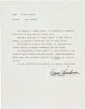 Football Collectibles:Others, 1960's Vince Lombardi Signed Letter from The Domenic Gentile Collection, PSA/DNA NM-MT 8. ...