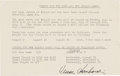 Football Collectibles:Others, 1960's Vince Lombardi Signed Per Diem Sheet from The Domenic Gentile Collection, PSA/DNA Mint 9. ...
