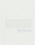 Golf Collectibles:Miscellaneous, 1966 Bobby Jones Signed Letter from The Domenic Gentile Collection. ...