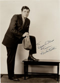 Baseball Collectibles:Photos, 1930's Babe Ruth Signed Photograph.  The Babe look...