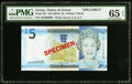 World Currency, Jersey States of Jersey 5 pounds ND (2010) Pick 33s PMG GemUncirculated 65 EPQ.. ...