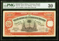 World Currency, British West Africa Currency Board 20 Schillings 1.12.1942 Pick 8bPMG Very Fine 30.. ...