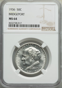 1936 50C Bridgeport MS64 NGC Details. NGC Census: (1149/1716). PCGS Population: (1932/2735). CDN: $120 Whsle. Bid for pr...