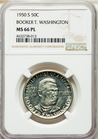 1950-S 50C Booker T. Washington MS66 Prooflike NGC Details. NGC Census: (15/2). PCGS Population: (0/0). Mintage 512,091...
