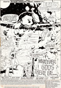 Original Comic Art:Splash Pages, Dave Gibbons Legion of Super-Heroes Annual #2 Splash Page 1Original Art (DC, 1983)....