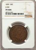 Patterns: , 1859 P50C Half Dollar, Judd-242, Pollock-298, R.5, PR8 NGC. NGC Census: (1/11). PCGS Population: (0/21). ...
