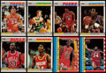 Basketball Cards:Sets, 1987 Fleer Basketball Complete Set (132) Plus Sticker Set (11)....