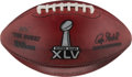 Football Collectibles:Balls, 2011 Super Bowl XLV Game Used Football - Packers vs. Steelers (PSA/DNA Certification)....