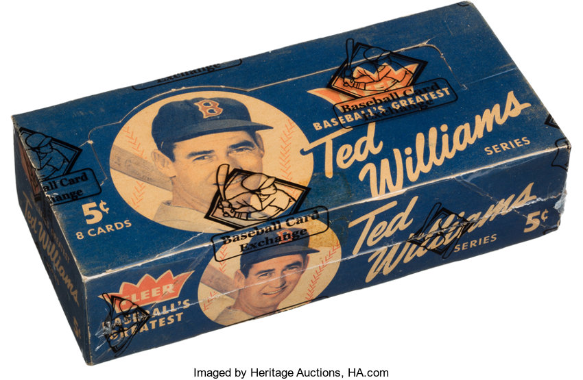 1959 Fleer Ted Williams 5 Cent Wax Box With 24 Unopened 8