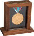 Olympic Collectibles:Autographs, 1988 Calgary Winter Olympics Salesman's Sample Gold Medal....